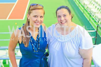 Megan Kirkpatrick, Nicole Chardavoyne. Photo by Alfredo Flores. The Washington Kastles Wimbledon on the Water. Kastles Stadium at The Wharf. June 28, 2011