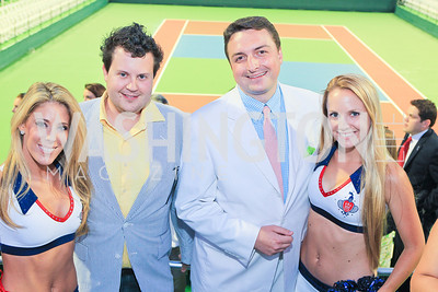 Jessica Smart, Brendan Kownacki, Christopher Brown, Ashley Stewart. Photo by Alfredo Flores. The Washington Kastles Wimbledon on the Water. Kastles Stadium at The Wharf. June 28, 2011