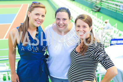 Megan Kirkpatrick, Nicole Chardavoyne, Jen Spatz-Martin. Photo by Alfredo Flores. The Washington Kastles Wimbledon on the Water. Kastles Stadium at The Wharf. June 28, 2011