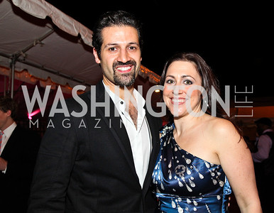 Qubad Talabani and Sherri Kraham Talabani. Photo by Tony Powell. The Young and the Guestlist. Longview Gallery. May 20, 2011