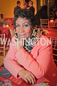 Aretha Franklin. Thelonious Monk 25th Anniversary Celebration Sponsored by Caddilac. Kennedy Center. Photo by Alfredo Flores. September 12, 2011