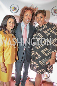Marcia Dyson, Paul Wharton, Tara Jones. Thelonious Monk 25th Anniversary Celebration Sponsored by Caddilac. Kennedy Center. Photo by Alfredo Flores. September 12, 2011
