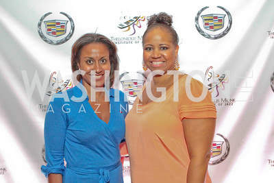 Nicole Venable, Aquila Powell. Thelonious Monk 25th Anniversary Celebration Sponsored by Caddilac. Kennedy Center. Photo by Alfredo Flores. September 12, 2011