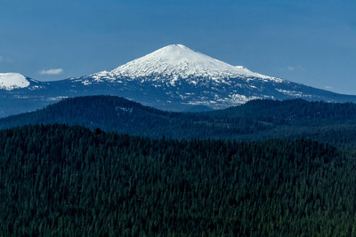 Mt Bachelor as seen from over Sun River Resort