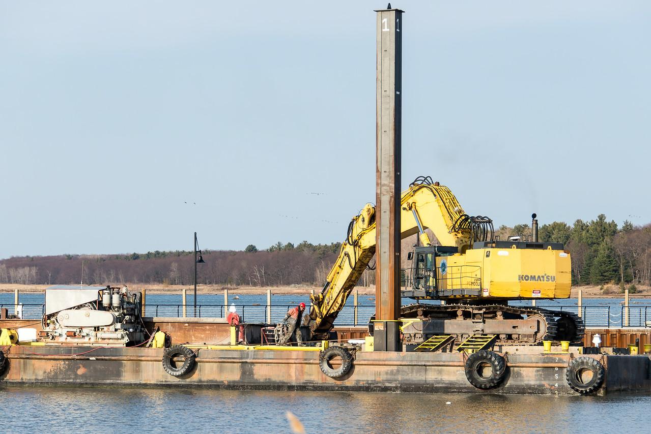 Dredging Port Austin Harbor - April 2014