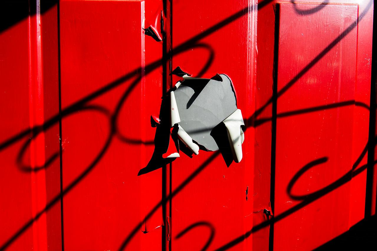 Front door in need of a paint job! April 2014