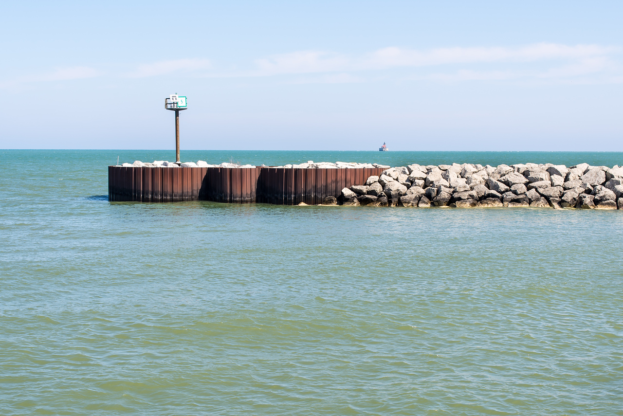 View of Port Austin Reef Lighthouse from Breakwall - April 2014