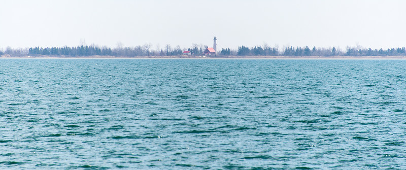 View of Tawas Point Lighthouse  - April 2014