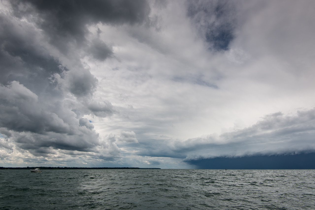Storm approaching from the northwest near Eagle Bay, July 2015