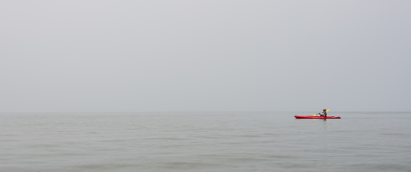 Eric in kayak, July 2015