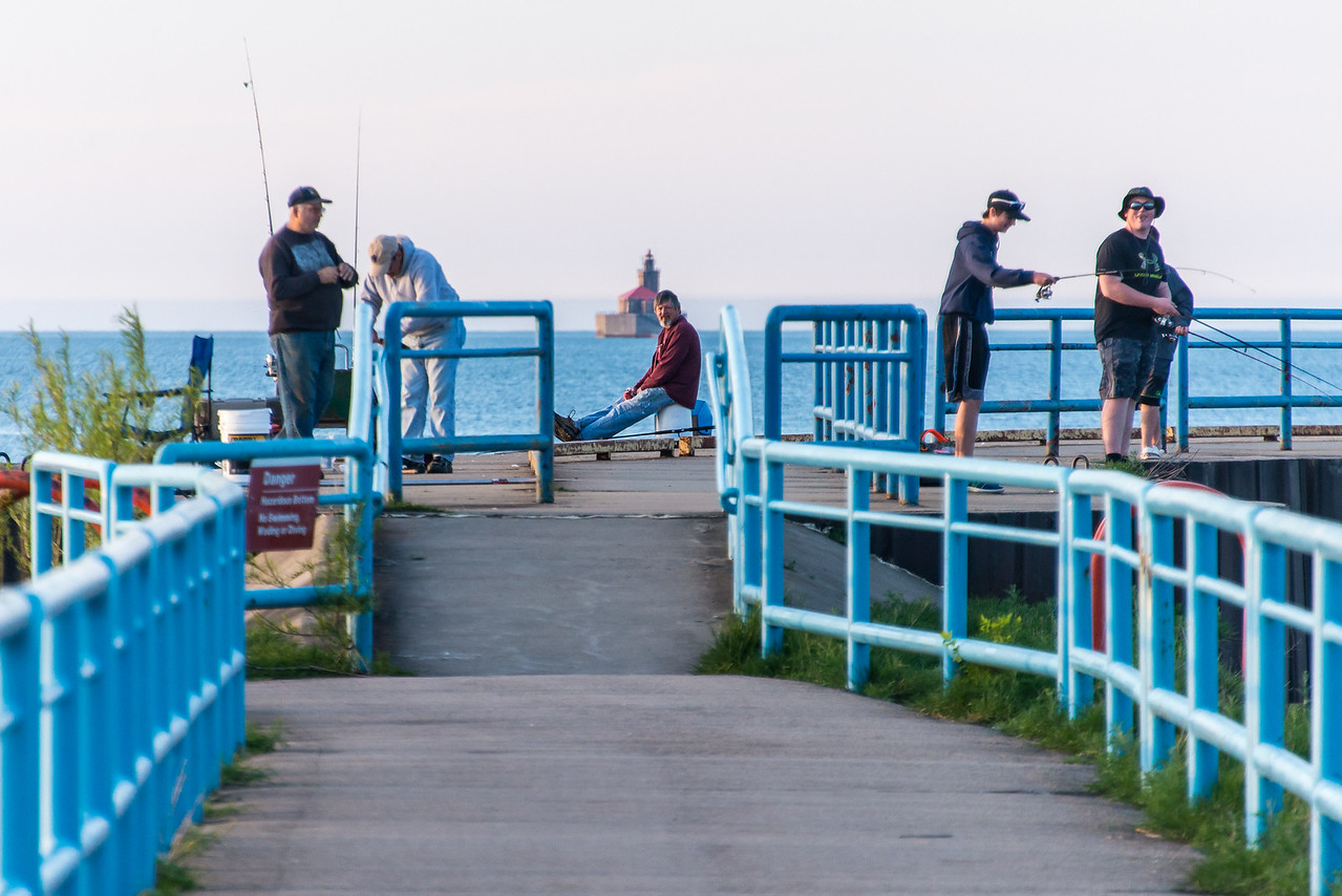 Fishermen  on Port Austin Breakwall - May 2017