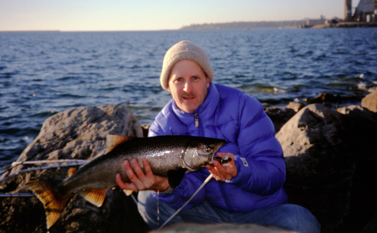 6 lb. Salmon caught off rocks of Harbor Beach breakwall - October 2003