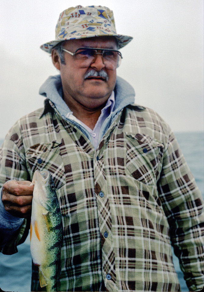 Dad with a nice Yellow Perch - September 1986