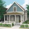 The Willow plan by Allison Ramsey Architects built at Tollgate. This plan is 1575 Heated Square Feet, 3 Bedrooms & 2.5 Bathrooms.