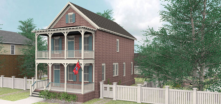 The Darlington plan by Allison Ramsey Architects built at Tollgate. This plan is 1982 Heated Square Feet, 3 Bedrooms & 2.5 Bathrooms.
