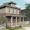 The Franklin Plan by Allison Ramsey Architects built at Tollgate. This plan is 1854 Heated Square Feet, 3 Bedrooms & 2.5 Bathrooms.