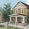 The Hamilton plan by Allison Ramsey Architects built at Tollgate. This plan is 1705 Heated Square Feet, 3 Bedrooms & 2.5 Bathrooms.