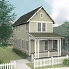 The Liberty plan by Allison Ramsey Architects built at Tollgate. This plan is 1232 Heated Square Feet, 2 Bedrooms & 2.5 Bathrooms.