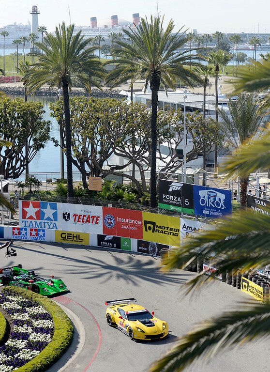 . IMSA practice warms up the track at the 40th Annual Toyota Grand Prix of Long Beach in Long Beach, CA. on Friday April 11, 2014. (Photo by Sean Hiller/ Daily Breeze).