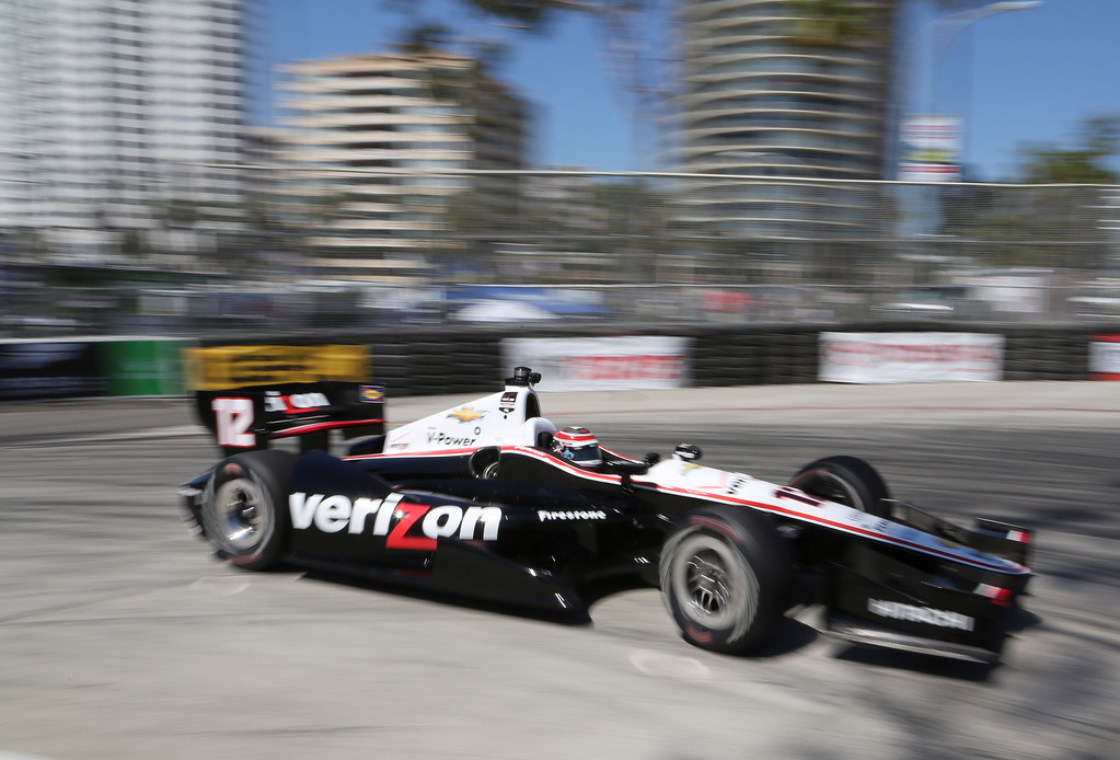 . Will Power during the Friday afternoon practice session of the 40th Toyota Grand Prix of Long Beach, Friday April 11, 2014. Chuck Bennett/Staff Photographer