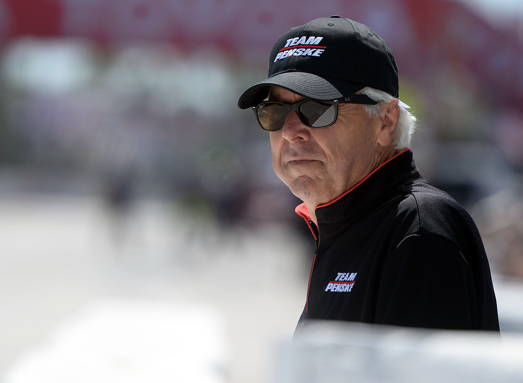 . Four time Indy 500 winner Rick Mears watches practice from the pit land Long Beach Friday afternoon April 11, 2014 at the 40th Toyota Grand Prix of Long Beach. Simon Pagenaud, from France, led drivers with the quickest lap time of the day. Qualifying for Sunday\'s race is Saturday.  (Will Lester/Inland Valley Daily Bulletin)