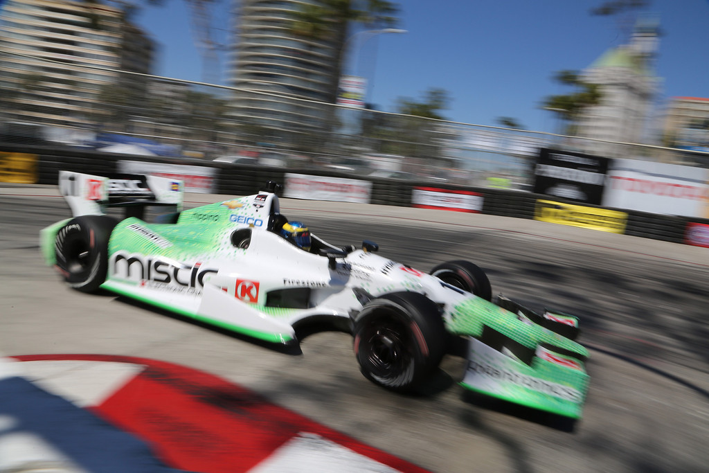 . Sebastian Bourdais during the Friday afternoon practice session of the 40th Toyota Grand Prix of Long Beach, Friday April 11, 2014. Chuck Bennett/Staff Photographer