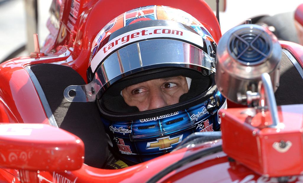 . Indycar driver Tony Kanaan prepares to take to the streets of Long Beach Friday morning April 11, 2014 for the first practice session at the 40th Toyota Grand Prix of Long Beach.  (Will Lester/Inland Valley Daily Bulletin)