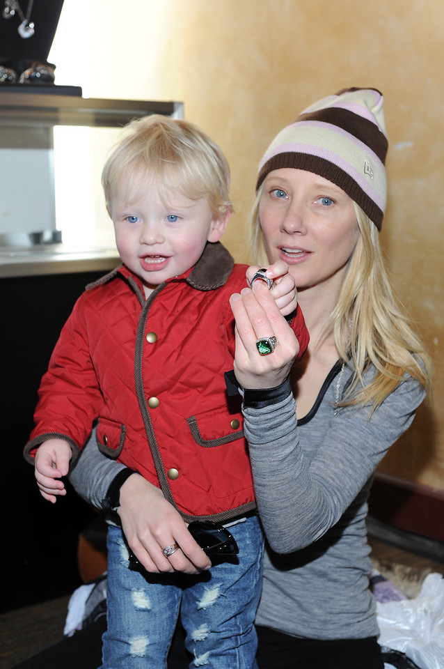 PARK CITY, UTAH - JANUARY 22: Actress Anne Heche and son Atlas Heche Tupper Attends the TR Suites at the Gateway Center on January 22, 2011 in Park City, Utah. (Photo by Joseph Bellantoni/ In House Image)