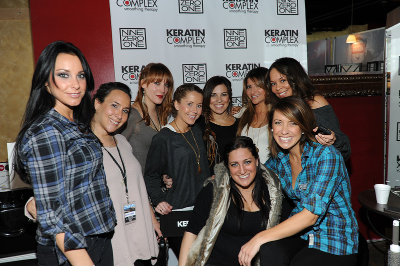 PARK CITY, UTAH - JANUARY 22: The girls from Keratin complex and Nine Zero One Attends the TR Suites at the Gateway Center on January 22, 2011 in Park City, Utah. (Photo by Joseph Bellantoni/ In House Image)