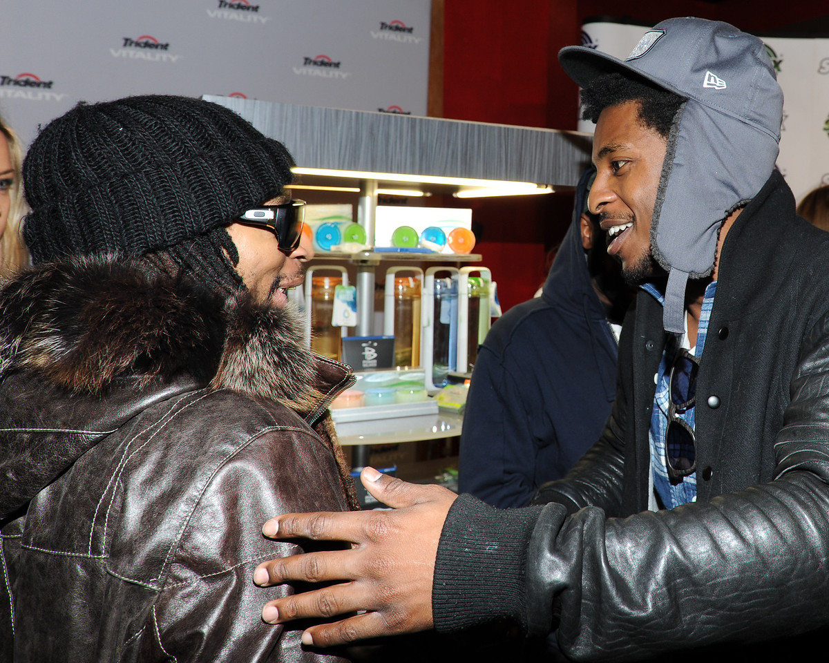 PARK CITY, UTAH - JANUARY 22: Lil Jon and Shwayze Attends the TR Suites at the Gateway Center on January 22, 2011 in Park City, Utah. (Photo by Joseph Bellantoni/ In House Image)
