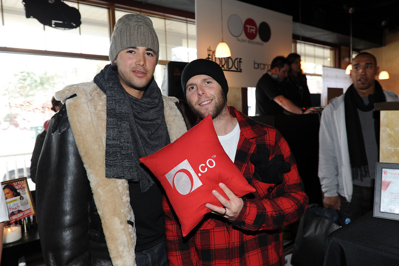 PARK CITY, UTAH - JANUARY 22: LA Dodger Andre Ethier and Boston Red Sox Dustin Pedroia Attends the TR Suites at the Gateway Center on January 22, 2011 in Park City, Utah. (Photo by Joseph Bellantoni/ In House Image)