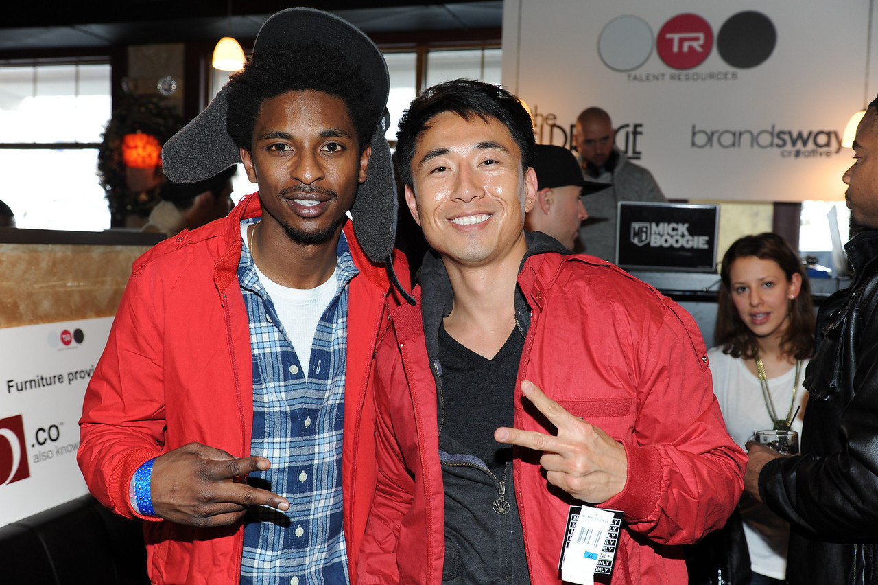 PARK CITY, UTAH - JANUARY 22: Shwayze and James Kyson LeeAttends the TR Suites at the Gateway Center on January 22, 2011 in Park City, Utah. (Photo by Joseph Bellantoni/ In House Image)