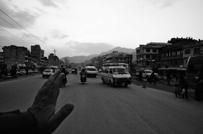 Ring road in Kathmandu - must be one of the most chaotic and polluted roads in the World.