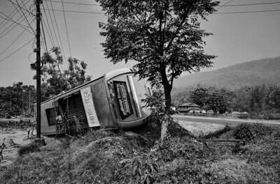 Just another accident - this time between Butwal and Narayanghat.