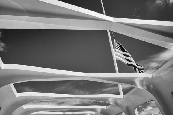 USS Arizona Memorial and Its Flag