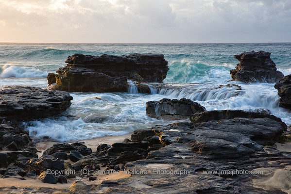 After Sunrise on the Rocks at Sandy Beach