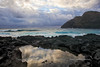 Storm Inbound - Tide Pool with Makapuu Lighthouse