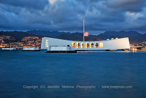 USS Arizona after Colors