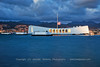 USS Arizona after Colors