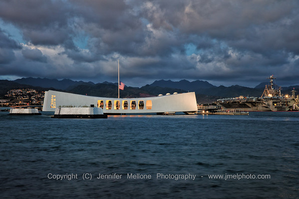 USS Arizona and USS Reagan