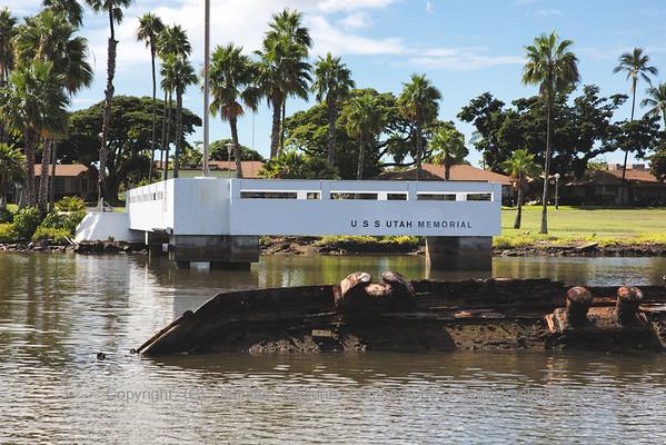 USS Utah Memorial from the Sea