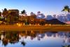Sunrise at Waikiki Resorts with Diamond Head