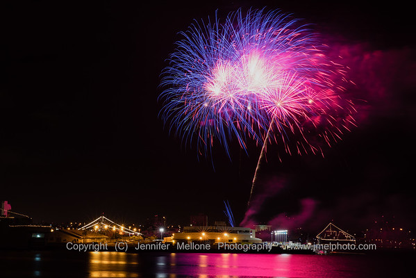 Three Cheers for Red White and Blue Fireworks at Pearl Harbor