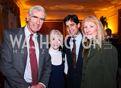 C. Boyden Gray, Joan Mulcahy, Kevin Marsh, Lola Reinsch. Trust for the National Mall reception to celebrate the 4th Annual Benefit Luncheon. Photo by Tony Powell. C. Boyden Gray residence. March 8, 2011