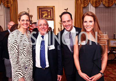 Kristen Olson, Jeff Zell, David Vennett, Sharon Dougherty. Trust for the National Mall reception to celebrate the 4th Annual Benefit Luncheon. Photo by Tony Powell. C. Boyden Gray residence. March 8, 2011