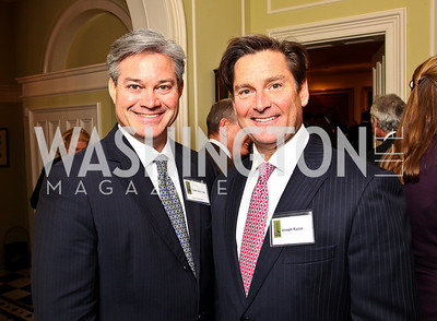 Mark Lowham, Joe Ruzzo. Trust for the National Mall reception to celebrate the 4th Annual Benefit Luncheon. Photo by Tony Powell. C. Boyden Gray residence. March 8, 2011