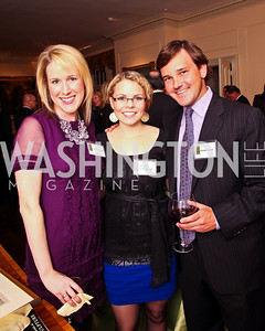 Lindley Thornburg, Lauren Freedman, Randall Casper. Trust for the National Mall reception to celebrate the 4th Annual Benefit Luncheon. Photo by Tony Powell. C. Boyden Gray residence. March 8, 2011