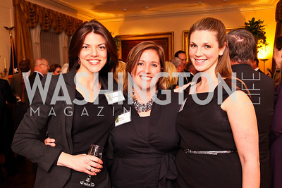 Hallie Sherard, Allie Signorelli, Molly Wade. Trust for the National Mall reception to celebrate the 4th Annual Benefit Luncheon. Photo by Tony Powell. C. Boyden Gray residence. March 8, 2011