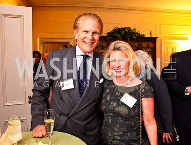 Michael and Charlotte Buxton. Trust for the National Mall reception to celebrate the 4th Annual Benefit Luncheon. Photo by Tony Powell. C. Boyden Gray residence. March 8, 2011