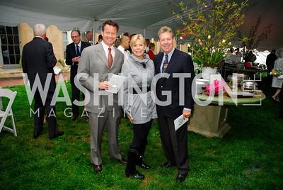 Tim Cooney,Sheila Wagner,Chuck Wagner,Tudor Place Garden Party,May 3,2011,Kyle Samperton